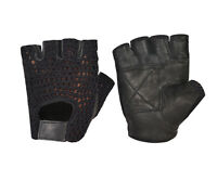 MESH NET PADDED LEATHER WEIGHT TRAINING GLOVES FITNESS CYCLING GYM WORKOUT GRIP