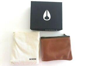 Nixon Bayside Foldover Bi-Fold Wallet (Saddle Tan) RRP $89.99 Leather