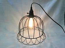 Industrial Primitive Metal Wire Hanging Lamp