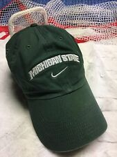 Michigan State Spartans Nike Strapback Hat Cap Distressed style see disc h7