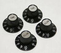 SKIRTED, WITCH HAT KNOB FOR VINT FENDER, GIBSON LES PAUL ETC VOL OR TONE/ CR CAP