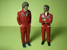 FIGURINES  1/18  JAMES  HUNT  NIKI  LAUDA    RUSH   VROOM  UNPAINTED  FIGURES