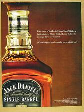2004 Jack Daniel's Single Barrel Whiskey bottle photo print Ad