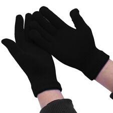 Winter Warm Kids Children Knit Gloves Full Finger Stretchy Mittens Black #ur