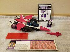 Transformers G1 Headmaster APEFACE w/ SPAZMA 100% complete 1987 Decepticon