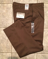 HAGGAR * Mens Brown Casual Pants * Size 34 x 31 * NEW WITH TAGS