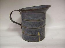 Antique Gray Enamel Graniteware Kitchen Milk Cream Pitcher