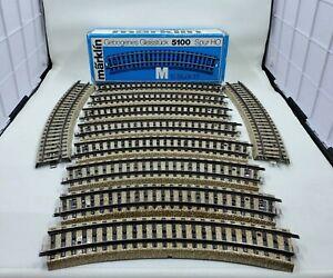 Marklin 5100 M Metal Curved Track (Box of 10) LN/Box L62