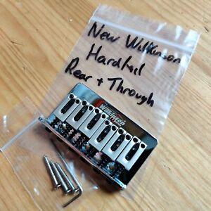 New Hardtail Strat Stratocaster Style Guitar Bridge Wilkinson Rear/Through Body