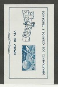 Brazil, Postage Stamp, #1062a Sheet Mint NH, 1967 Airplane