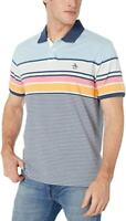 ORIGINAL PENGUIN STRIPED MEN'S POLO RUGBY SHIRT SIZE S Blue White Orange pink