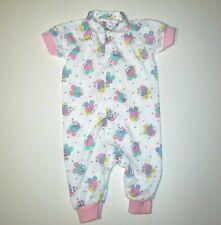 VINTAGE PLAYSKOOL BABY PASTEL BUNNY PAJAMAS OUTFIT SLEEPER MEDIUM 3 - 6 MONTHS