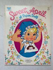 VINTAGE - Sweet April Paper Doll Book - Whitman 1974
