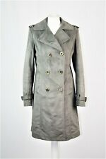 Grey Faux Suede Leather Coat UK 8