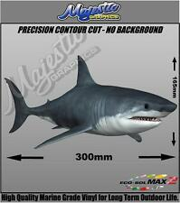 GREAT WHITE SHARK - DECAL - 300mm x 165mm - BOAT DECAL