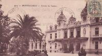 MONTE-CARLO entrée casino au verso chocolaterie monaco biscuiterie delta timbrée