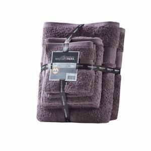 Chic 6pc Purple Egyptian Cotton Bathroom Towel Set - 650GSM - OEKO-TEX Certified