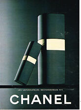 PUBLICITE ADVERTISING 094  1982  CHANEL  vaporisateurs rechargeables n°5