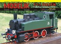ORIGINAL PAPER-CARD MODEL KIT - Shunting steam locomotive T-3-A FERRUM from 1948