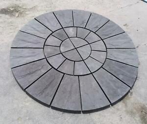 Square edge Riven Paving Circle 1.8m (6FT) Diameter Various colours - Collection