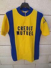 Maillot cycliste CREDIT MUTUEL V.C.P jaune vintage Tricots du Rocher jersey 70's