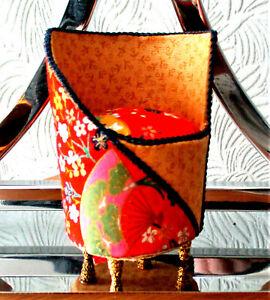 pair Art Deco Oriental CHAIRS dolls house NEW HANDMADE #D