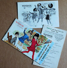 3 vintage 1960s catalogues price lists Windsor Woollies 1966 childrens fashion o