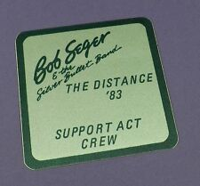 Bob Seger Original Backstage Pass -The Distance Tour 1983 - Unused Stock !