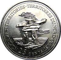 1992 Canada 125th Northwest Territories 25 Cents Gem BU UNC Quarter!!