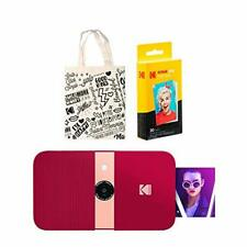 KODAK Smile Instant Print Digital Camera (Red) Tote Bag Kit