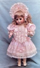 "27-28""ANTIQUE FRENCH BRU DOLL INSERT RIBBON&LACE DRESS&WIRE HAT PATTERN GERMAN"
