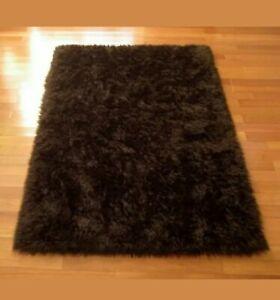 Brown Bear Skin Faux Fur Rug 5'x6'