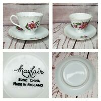 Vintage Mayfair Bone China Made In England Tea Cup And Saucer