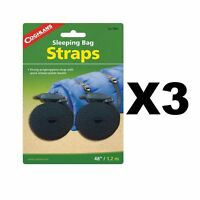 "Coghlan's Sleeping Bag Straps w/Tab Release Buckle 3/4""x48"" (3-Pack of 2)"