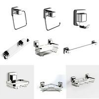 Pushloc Wall Mounted Suction Bathroom Accessories, Chrome, Easy Installation