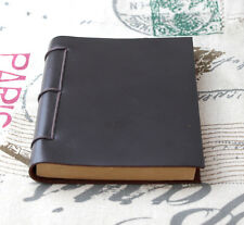 handmade thick Diaries Journals notebook genuine leather brown A5 D0522