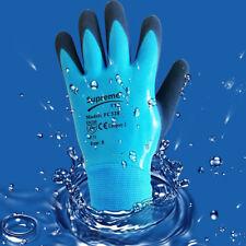 Fully Latex Coated Grip Waterproof Cold Winter Work Gloves Builders Gardening