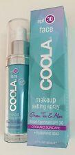 Coola Makeup Setting Spray, SPF 30 Organic +hyaluronic acid Matte TSA approved