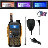 Baofeng GT-3TP MarkIII 1/4/8Watt 2m/70cm Band VHF UHF Transceiver + Speaker Mic