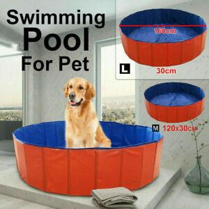 Portable Folding Pet Swimming Pool Dog Cat Bath Animal Washing