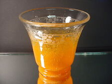 Rare Schneider Art Glass Art Deco Cluthra Vase w/Wheel Cut Designs France 1930's