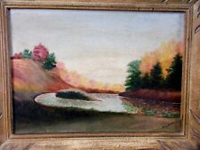 Framed Oil Painting Autumn And The Annapolis River Signed HV Ryan Middleton NS