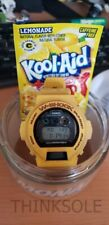 NEW CASIO WOOD SHOCK G-SHOCK DW6900 YELLOW KOOL-AID JUICER JAR RARE LIMITED