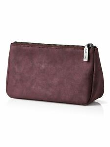 Mary Kay Limited Edition Collection Bag Purple Faux-Suede Metallic Finish Zip