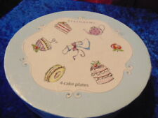 Debenham Cake Plates New in Box Four Different Designs Great Gift