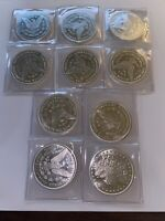 TEN (10) 1 oz. Highland Mint Silver Round Morgan Dollar Design .999 Fine