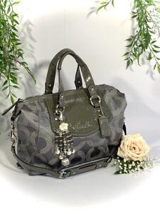 Coach Grey Satchel Purse Dotted Ashley Handbag Shoulder bag Purse F1294-F20027