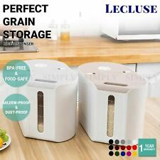Lecluse Rice Dispenser Cereal Storage Box Spaghetti Noodle Container Sealed