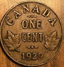 1929 CANADA SMALL CENT COIN PENNY