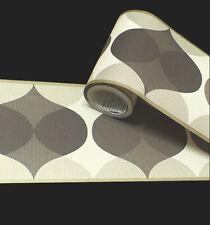 Chocolate & Cream, Retro Style Pattern, *Peel & Stick* Wallpaper Border